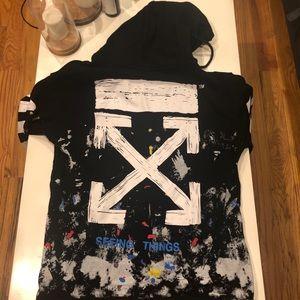 NWT Off-White Unisex C/O Virgil hoodie sweatshirt